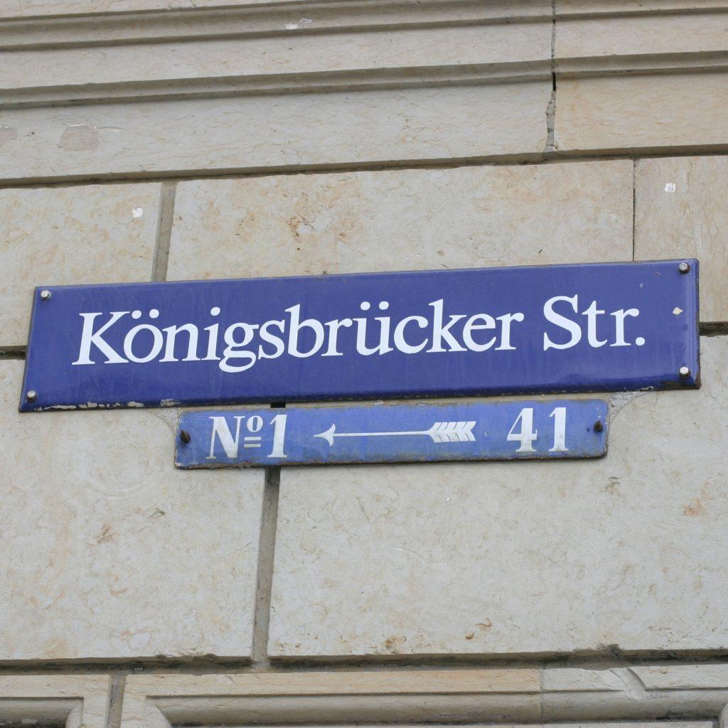 Straßenschild Königsbrücker Straße